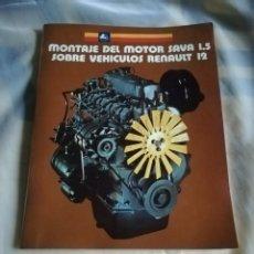 Coches y Motocicletas: ÚNICO MANUAL PEGASO AÑOS 70 MONTAJE MOTOR SAVA EN RENAULT 12. Lote 207072285