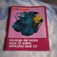 Coches y Motocicletas: ÚNICO MANUAL PEGASO AÑOS 70 MONTAJE MOTOR SAVA EN SEAT 131. Lote 207076165
