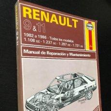 Coches y Motocicletas: RENAULT 9 11 GTS TSE GTX GTL TXE TC TURBO - MANUAL TALLER REPARACION MANTENIMIENTO HAYNES - ESPAÑOL. Lote 207128676