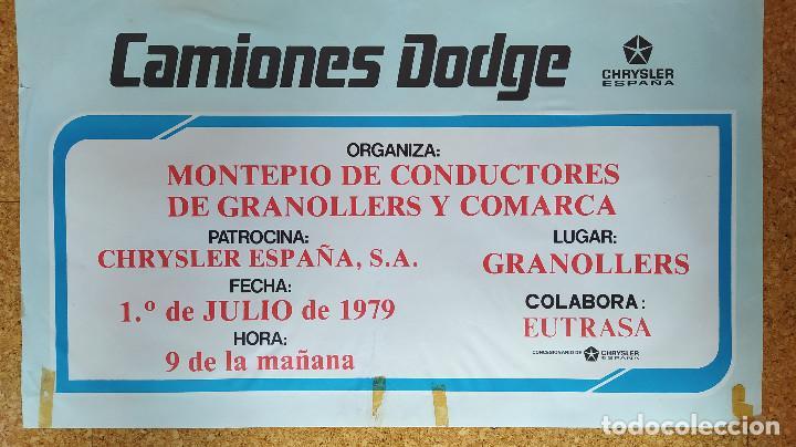 Coches y Motocicletas: CARTEL O POSTER 2º CAMPEONATO REGIONAL DE CONDUCTORES - CAMIONES DODGE - CHRYSLER ESPAÑA - Foto 2 - 207220633