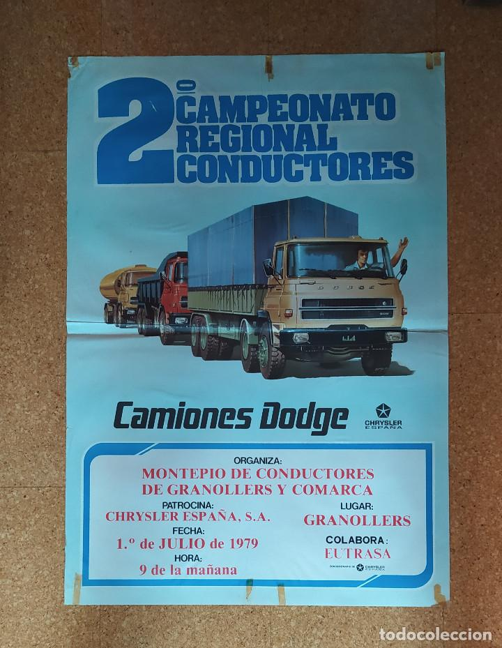 Coches y Motocicletas: CARTEL O POSTER 2º CAMPEONATO REGIONAL DE CONDUCTORES - CAMIONES DODGE - CHRYSLER ESPAÑA - Foto 5 - 207220633