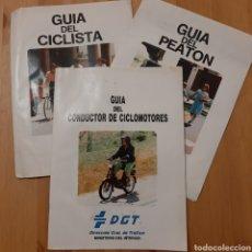 Coches y Motocicletas: LOTE GUÍAS DE LA DE DGT VINTAGE. Lote 207346305