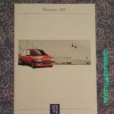 Coches y Motocicletas: CATALOGO PUBLICITARIO PEUGEOT 205. Lote 208765930