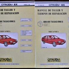 Coches y Motocicletas: MANUAL DE TALLER Y TIEMPOS DE REPARACIÓN CITROËN BX TOMOS I Y II - ABRIL 1983 MUY BUEN ESTADO. Lote 208998200