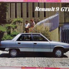Coches y Motocicletas: FOLLETO PUBLICITARIO ORIGINAL RENAULT 9 GTD - 1983. Lote 209725827