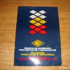 Voitures et Motocyclettes: CATALOGO RINDER EQUIPOS DE ALUMBRADO PARA BICICLETAS Y MOTOCICLETAS 1983 PAGINAS 28. Lote 209731965