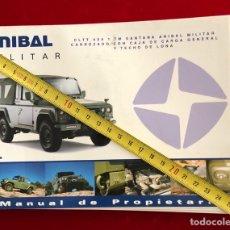 Coches y Motocicletas: MANUAL DE PROPIETARIO. LAND ROVER SANTANA. ANÍBAL MILITAR.. Lote 255004280