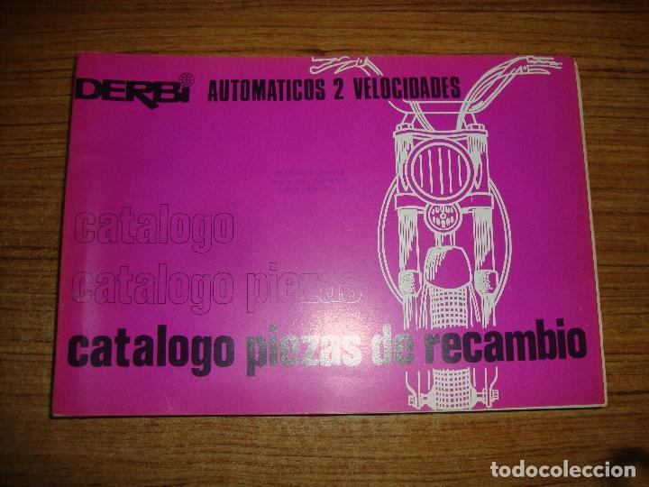 (TC-116) LIBRO CATALOGO PIEZAS DE RECAMBIO DERBI AUTOMATICOS 2 VELOCIDADES (Coches y Motocicletas Antiguas y Clásicas - Catálogos, Publicidad y Libros de mecánica)