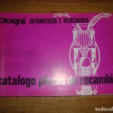 Coches y Motocicletas: (TC-116) LIBRO CATALOGO PIEZAS DE RECAMBIO DERBI AUTOMATICOS 2 VELOCIDADES. Lote 210061081
