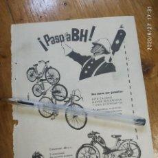 Coches y Motocicletas: PASO A BH BICICLETAS Y CICLOMOTORES BEISTEGUI HERMANOS EIBAR.. Lote 210251366