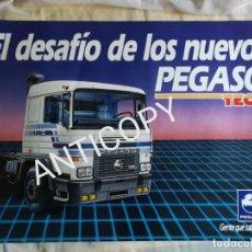 Coches y Motocicletas: IMPRESIONANTE PÓSTER CARTEL CAMIÓN PEGASO TECNO AÑO 1985. Lote 210341930