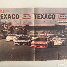Carros e motociclos: POSTER,43X28, LANCIA BETA MONTECARLO TURBO, CAMPEON MUNDIAL DE MARCAS 1980, AUTOPISTA. Lote 210367961