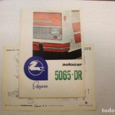 Coches y Motocicletas: PEGASO DÍPTICO MÁS DESCRIPCIÓN AUTOCAR 5065-DR. Lote 210560903