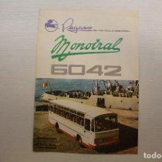 Coches y Motocicletas: PEGASO DÍPTICO PUBLICITARIO AUTOCAR MONOTRAL 6042. Lote 210561443