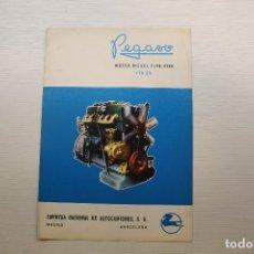 Coches y Motocicletas: PEGASO DÍPTICO PUBLICITARIO MOTOR DIESEL TIPO 9100, 170 CV. Lote 210561568