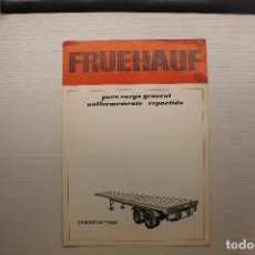 Coches y Motocicletas: FRUEHAUF, DÍPTICO PUBLICITARIO, PLATAFORMAS. Lote 210561672