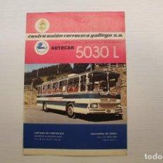 Coches y Motocicletas: PEGASO, DÍPTICO PUBLICITARIO, AUTOCAR 5030 L, CASTRO UNIÓN CARROCERA GALLEGA SA. Lote 210561966