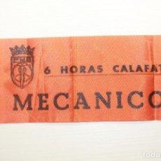 Coches y Motocicletas: BRAZALETE, MECÁNICO, 6 HORAS CALAFAT, PEÑA MOTORISTA BARCELONA, 34X9 CM. Lote 210563285