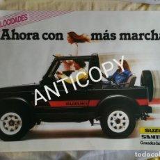 Coches y Motocicletas: IMPRESIONANTE PÓSTER CARTEL SUZUKI SANTANA SJ410 AÑO 1986. Lote 210799531