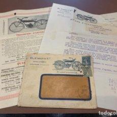 Coches y Motocicletas: CARTA H. COREN & CIA CENTRAL AUTOMOBILE ORANGE (VAUCLUSE) EVANS-CYCLEMOTOR / MOTOCICLISMO (Q3). Lote 211393045