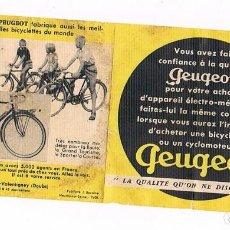 Coches y Motocicletas: PEUGEOT PUBLICIDAD ANTIGUA. Lote 211476029