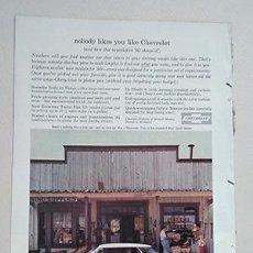 Coches y Motocicletas: 1960 CHEVROLET IMPALA 4-DOOR SPORT SEDAN. GENERAL MOTORS. RECORTE PUBLICIDAD. Lote 211514325