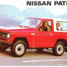 Coches y Motocicletas: 1984 NISSAN PATROL 4 WD CATÁLOGO PUBLICIDAD ORIGINAL. Lote 211652550
