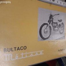 Coches y Motocicletas: BULTACO METISSE AÑOS 60 CATALOGO ORIGINAL. Lote 243101095