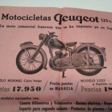 Coches y Motocicletas: PUBLICIDAD MOTOCICLETAS DUCATI , SETTER , PEUGEOT , ACCESORIOS MANRESA. Lote 211733649