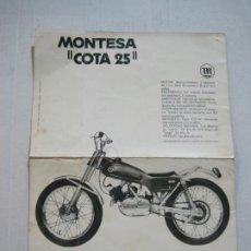 Coches y Motocicletas: MOTOS-MONTESA COTA 25-PUBLICIDAD ANTIGUA-VER FOTOS-(V-21.401). Lote 212121792