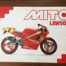 Coches y Motocicletas: FOLLETO MOTO CAGIVA MITO LAWSON (BROCHURE MOTORCYCLE).... Lote 244647475