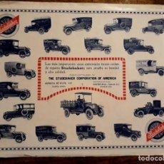 Coches y Motocicletas: 2 GRANDES PUBLICIDADES ORIGINALES STUDEBAKER 1918 Y 1920 ANUNCIO COCHES AUTOS. Lote 212567595