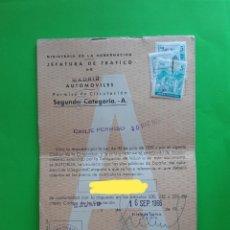 Coches y Motocicletas: PERMISO DE CIRCULACIÓN AUTOMÓVILES 1966 SEAT 850. Lote 212906077