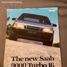 Coches y Motocicletas: SAAB 9000 TURBO 16 CATALOGO SALES BROCHURE ORIGINAL 1984 KOTNIK. Lote 212926587