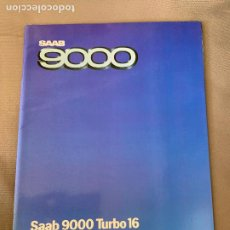 Coches y Motocicletas: SAAB 9000 TURBO 16 CATALOGO SALES BROCHURE ORIGINAL 1984 KOTNIK. Lote 212926825