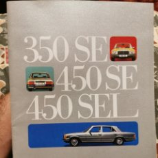 Coches y Motocicletas: CATÁLOGO MERCEDES BENZ 350 SE 450 SE 450 SEL. Lote 213006243