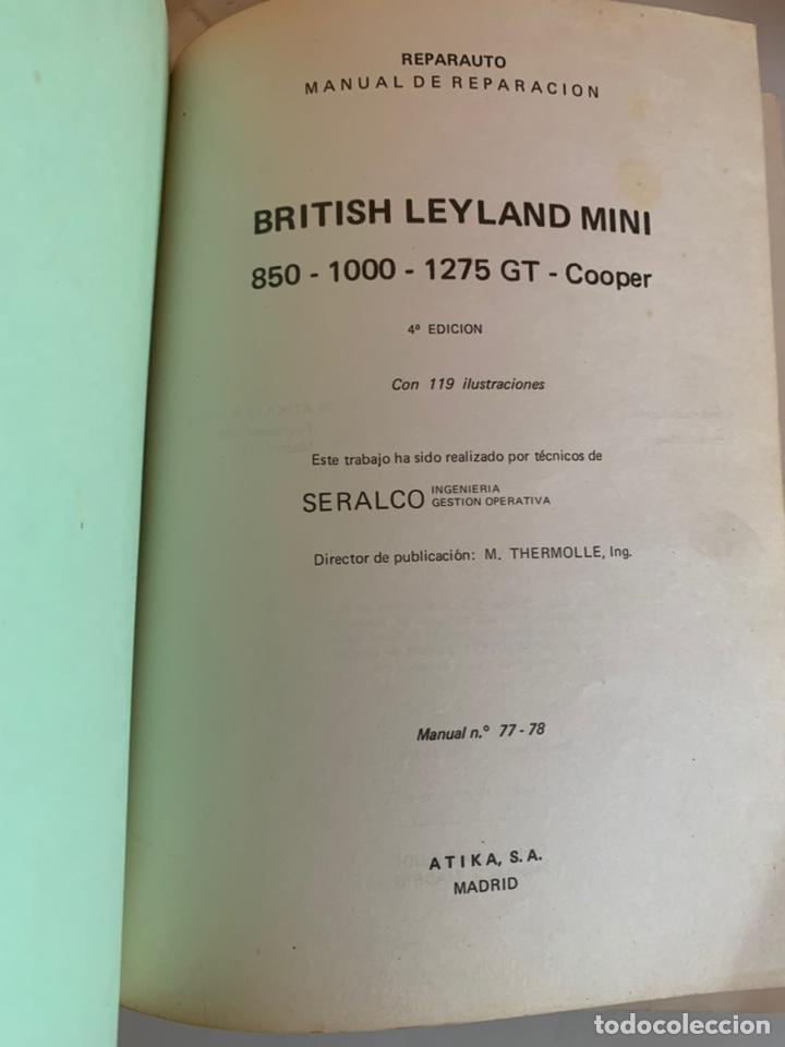 Coches y Motocicletas: Libro manual reparauto British Leyland mini 850-1000-1275-gt-Cooper de 1976 - Foto 2 - 213256467