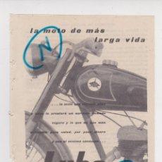 Carros e motociclos: PUBLICIDAD T 1957. ANUNCIO MOTO LUBE. LUBE NSU, S.A. FACTORIAS EN LUCHANA (VIZCAYA). Lote 213283431
