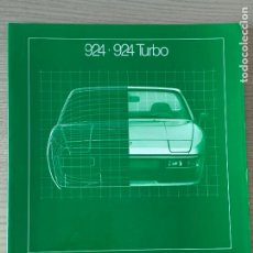Coches y Motocicletas: PORSCHE CATALOGO PORSCHE 924 924 TURBO 1981. Lote 213428396