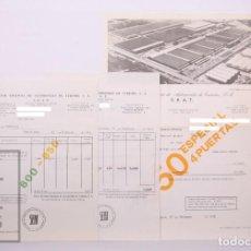 Carros e motociclos: CONJUNTO DE DOCUMENTOS / FACTURAS DE SEAT, SOCIEDAD ESPAÑOLA AUTOMÓVILES DE TURISMO, AÑO 1972. Lote 213684751