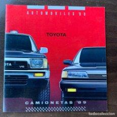 Coches y Motocicletas: CATALOGO DE 1989 TOYOTA SUPRA LAND CRUISER CELICA CRESSIDA 4X4 TERCEL MR2 CAMRY. Lote 213755256