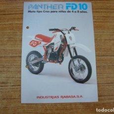 Carros e motociclos: (TC-108) FOLLETO DERBI PANTHER FD 10. Lote 213809727