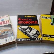 Coches y Motocicletas: MANUAL DE AUTOMOVILES M.ARIAS PAZ LOTE 3 DESDE 1950 ESCASOS. Lote 213890733