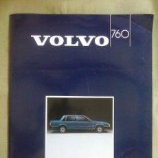 Carros e motociclos: CATALOGO VOLVO SERIE 760. AÑO 1985. MANCHA EN LA CONTRAPORTADA.. Lote 214283291