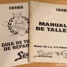 Coches y Motocicletas: MANUAL DE TALLER DE 1994 DERBI SENDA FÉNIX MOTOR 50 CC 4-6 VELOCIDADES. Lote 269438623