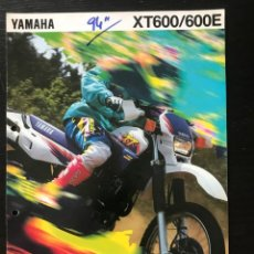 Automobili e Motociclette: YAMAHA XT 600 / 600 E - FOLLETO CATALOGO ORIGINAL - EN ESPAÑOL - AÑO 1994. Lote 215251176