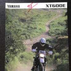 Automobili e Motociclette: YAMAHA XT 600 E - FOLLETO CATALOGO ORIGINAL - EN ESPAÑOL - AÑO 1998. Lote 215251512