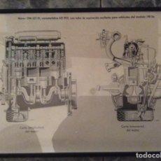 Coches y Motocicletas: CUADRO MOTOR CON CORTE TRANSVERSAL Y LONGITUDINAL, MERCEDES BENZ MODELO 190 DC. Lote 215284785