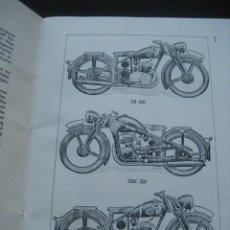 Coches y Motocicletas: MOTOCICLETAS ZÜNDAPP. INSTRUCCIONES DE USO. COPIA ÚNICA DE LOS AÑOS 60 DEL MANUAL ORIGINAL DE 1939.. Lote 215726353