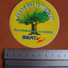 Coches y Motocicletas: PEGATINA DE LOS AÑOS 80 DE SEAT. Lote 217176537